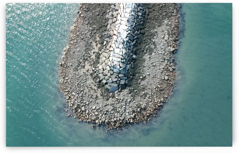 Point of Jetty Plymouth Harbor Plymouth MA -  DW3 by Drone WorX - Boston