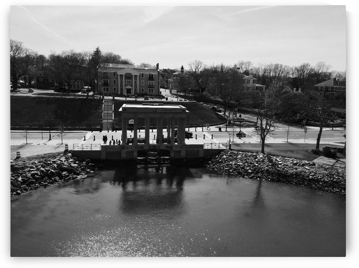 Plymouth Rock B/W Plymouth MA - DW15 by Drone WorX - Boston