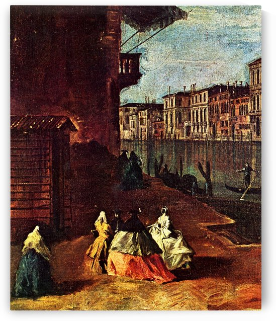 Venice, The Grand Canal with San Geremia, Palazzo Labia, and the Entrance to the Cannaregio by Francesco Guardi
