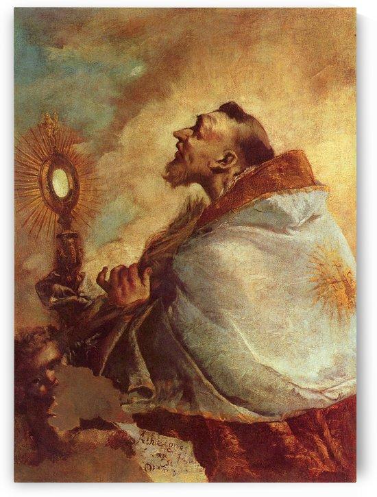 Heiliger in Verzuckung by Francesco Guardi