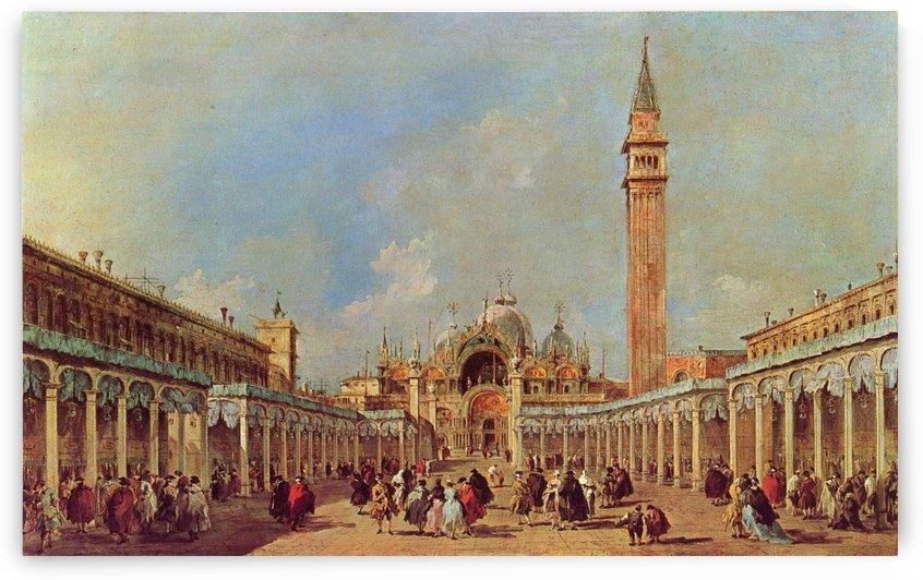 La Fiera della Sensa in Piazza San Marco by Francesco Guardi