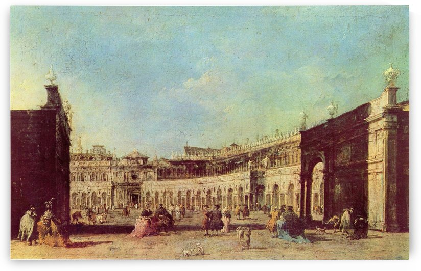 Piazza San Marco a Venezia, dal lato opposto alla basilica by Francesco Guardi