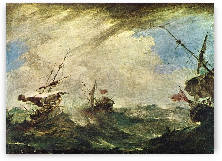 Schiffe im Meeresgewitter by Francesco Guardi