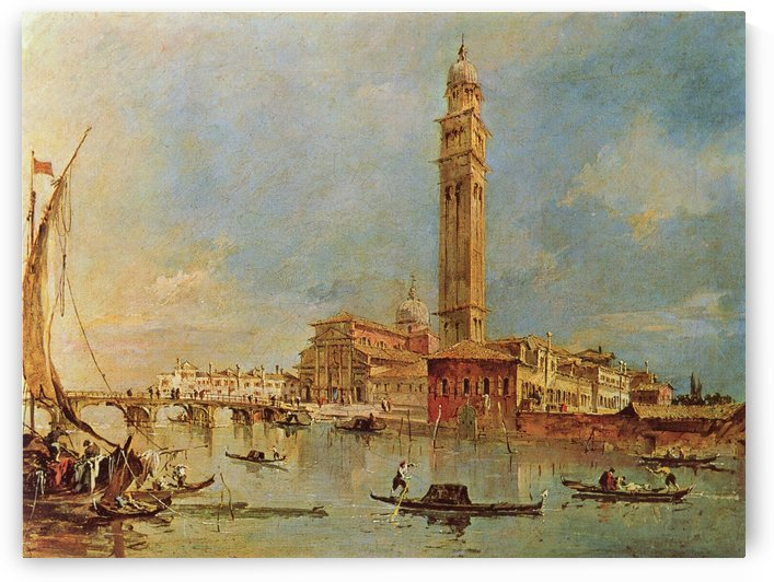 Vedute der Isola di San Pietro di Castello by Francesco Guardi