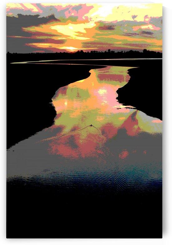 Lake at Sunset by Rosalva Aguilar
