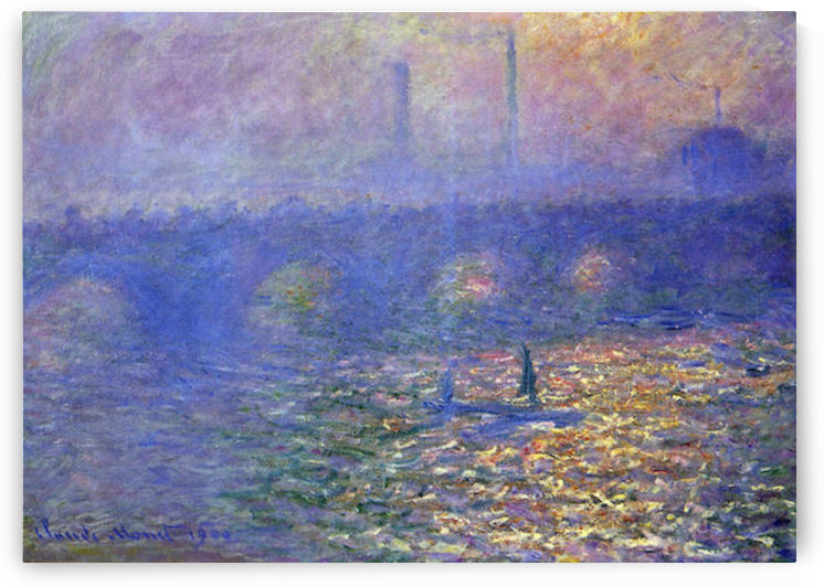 Waterloo Bridge by Monet by Monet