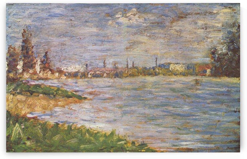 Die beiden Ufer by Georges Seurat