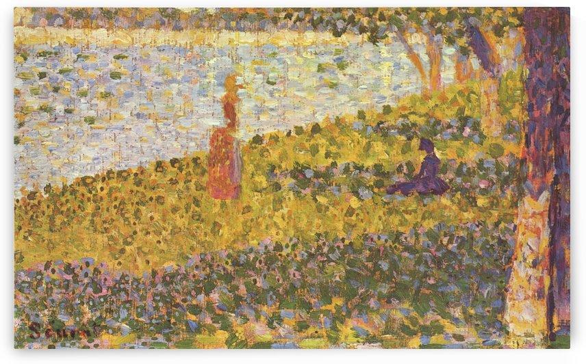 Femmes au bord de l eau by Georges Seurat