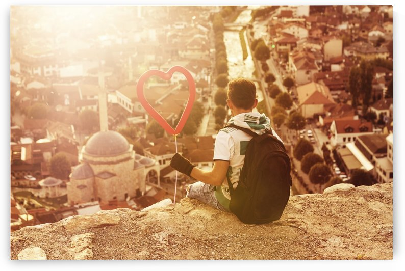 Love my city by Besa Art