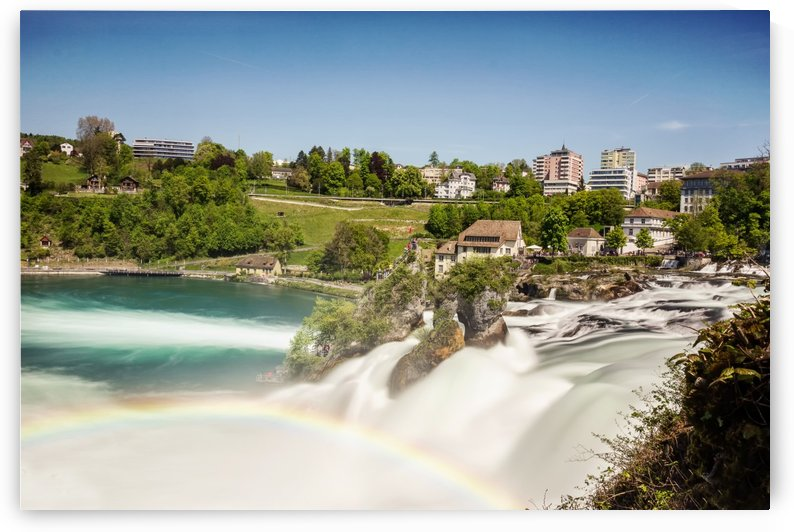 Rhine Falls in Switzerland by Besa Art
