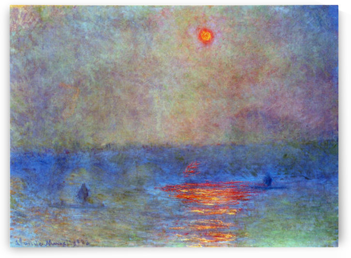 Waterloo Bridge, the sun in the fog by Monet by Monet