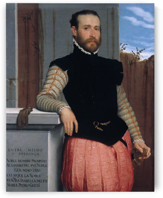 Portrait of Prospero Alessandri by Giovanni Battista Moroni