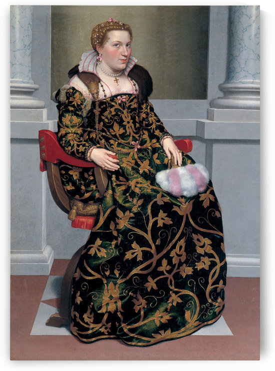 Portrait of Isotta Brembati Grumelli by Giovanni Battista Moroni