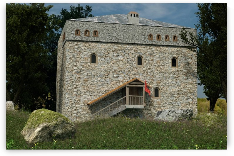 Albanian traditional tower house by Besa Art