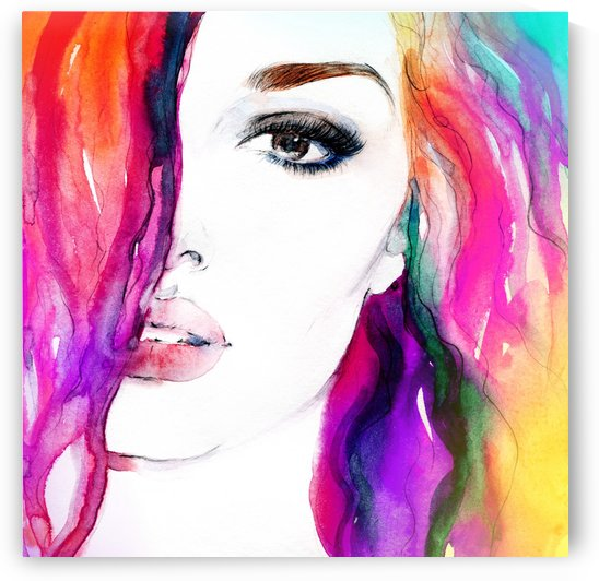 Abstract Woman by Stock Photography