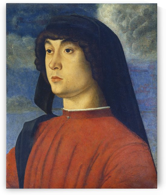 Giovanni Bellini Portrait Young Man Red by Giovanni Bellini