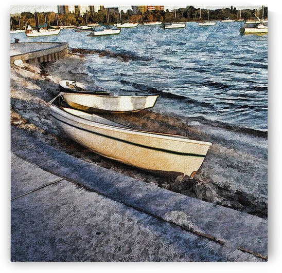 Boats At The Bay by Jacqueline Sleter