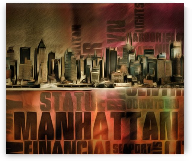 New York Skyline by Bruce Rolff