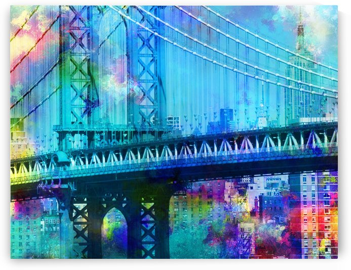 Manhattan Bridge by Bruce Rolff