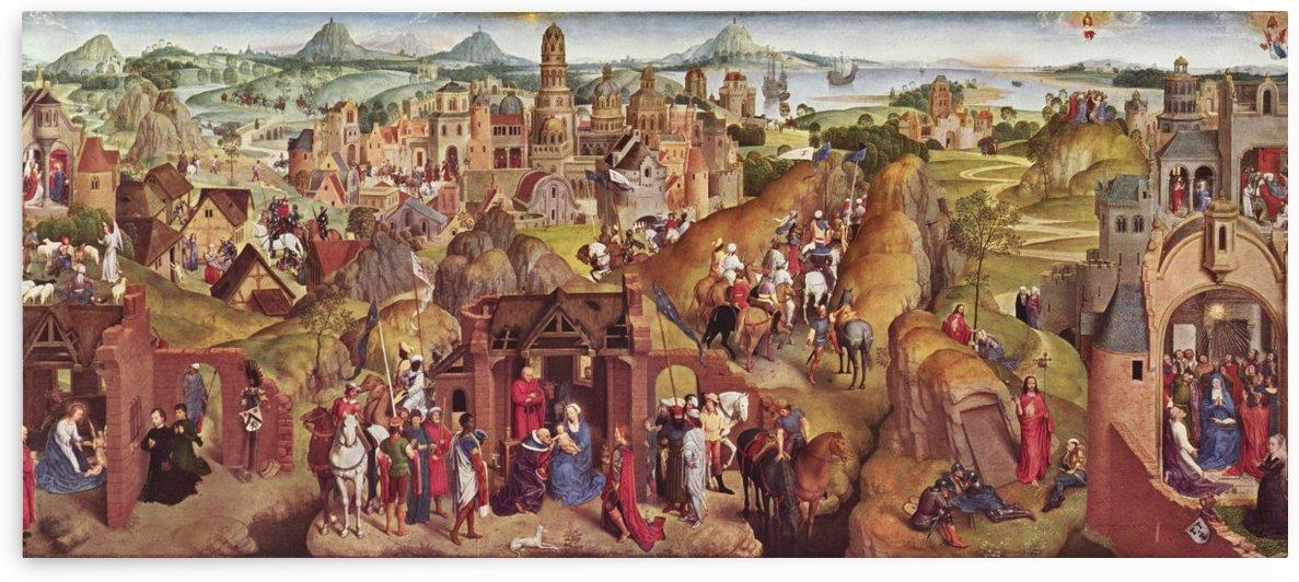 Die sieben Freuden Mariens by Hans Memling