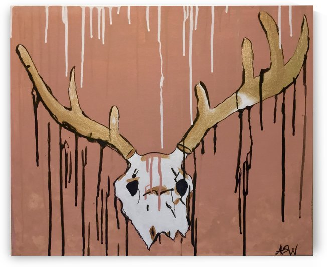 Dripping Deer Skull by WhiteOut Artwork
