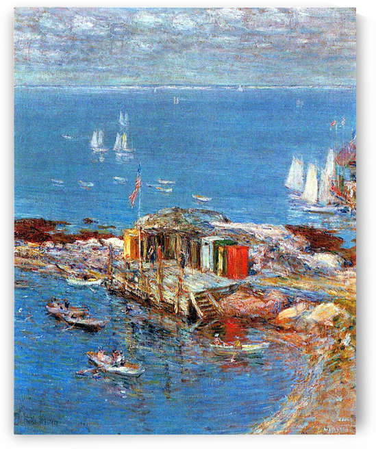 Afternoon in August, Appledore by Hassam by Hassam