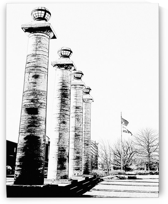 Columns At The Courthouse by Jim Jones