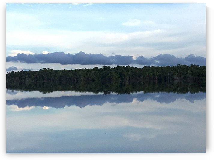 Sky Reflected In Still Water by Maria Virginia Castro