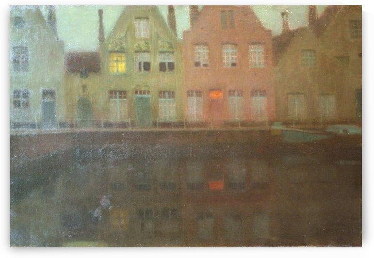 Le quai by Henri Le Sidaner