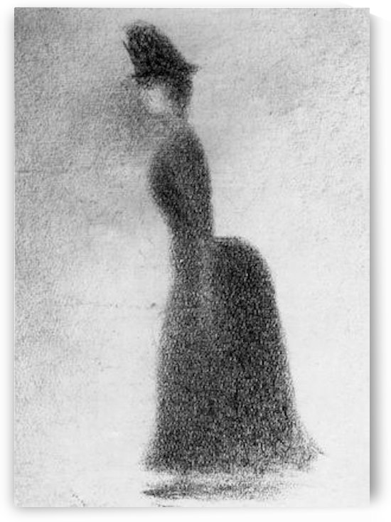 Woman by Seurat by Seurat