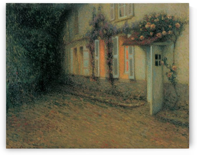 Roses and Wisterias on the House by Henri Le Sidaner
