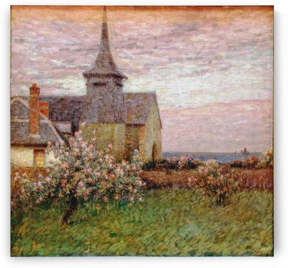 Eglise gerberoy by Henri Le Sidaner