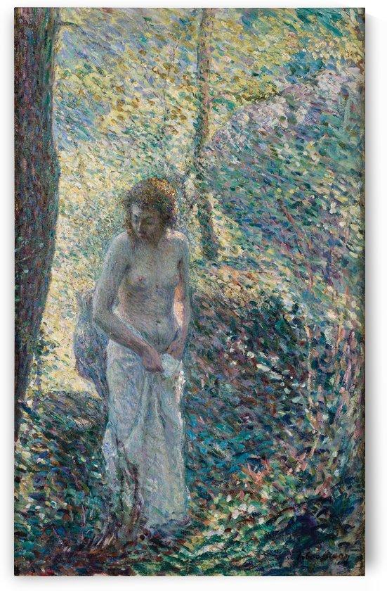 Una joven en el bosque by Henri Lebasque