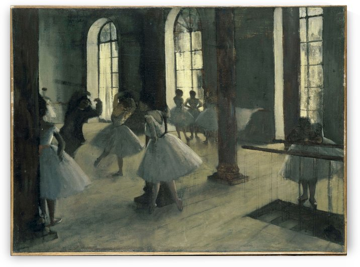 La Repetition au foyer de la danse by Hilaire-Germain-Edgar Degas