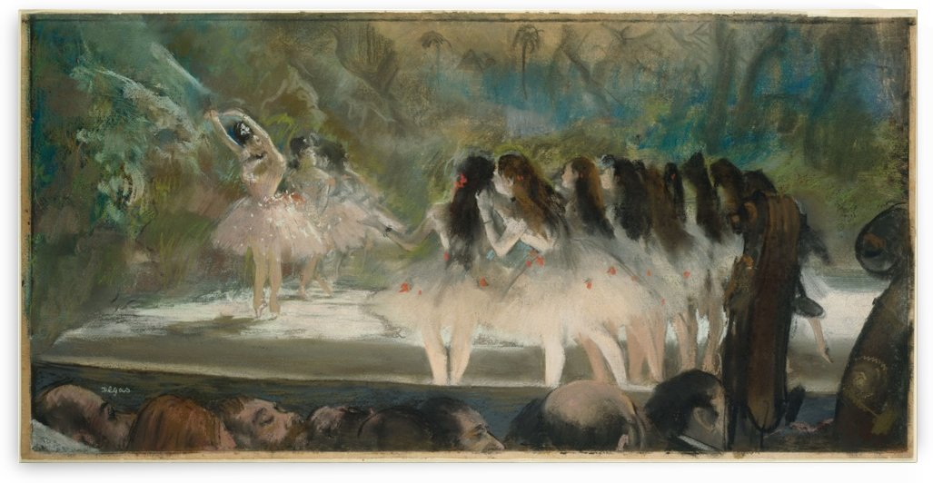 Ballet at the Paris Opera by Hilaire-Germain-Edgar Degas