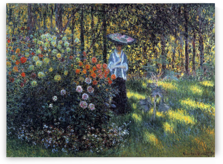 Woman with a parasol in the garden of Argenteuil by Monet by Monet