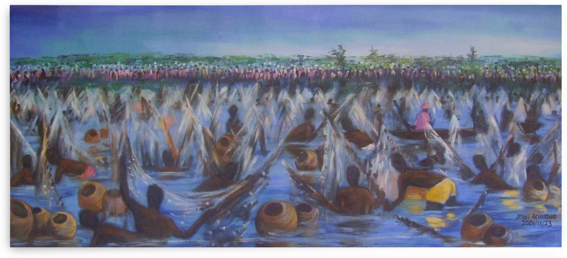 Argungu Fishing Festival, painted by Stephen Achugwo by sirsteve