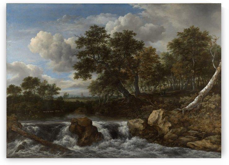 Landschap met waterval Rijksmuseum by Jacob van Ruisdael