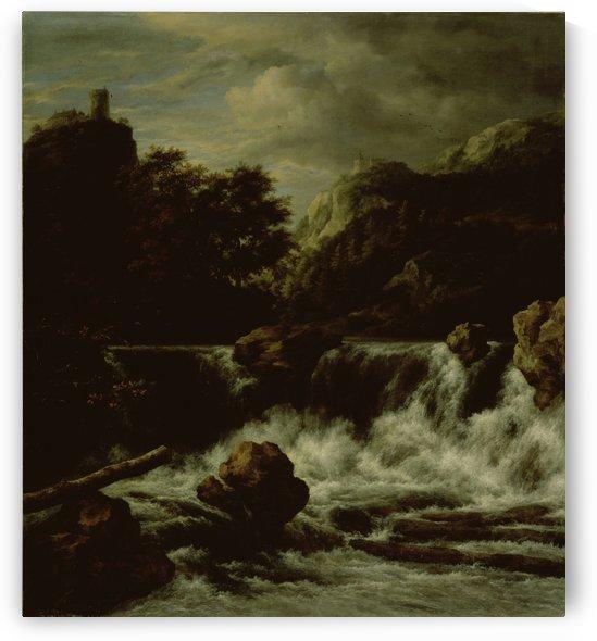 Berglandschap met waterval Rijksmuseum by Jacob van Ruisdael