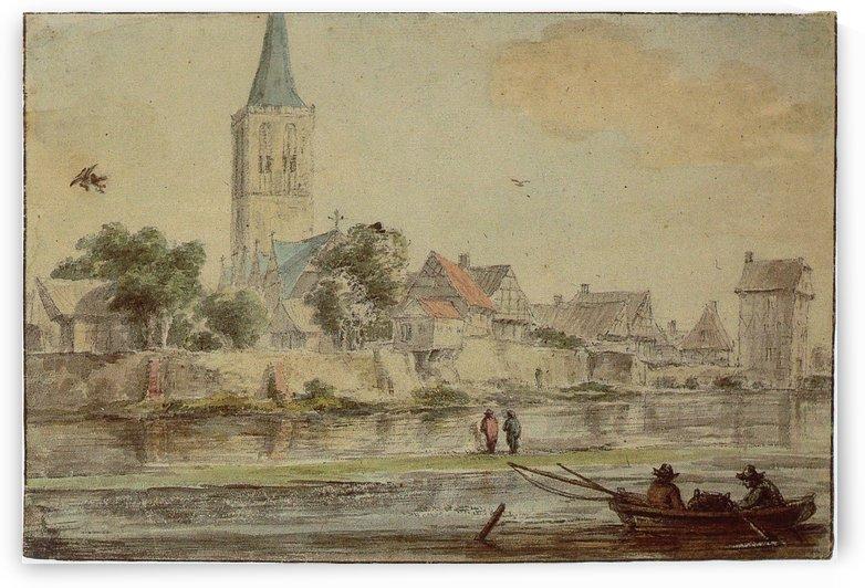 Ansichten der Stadt Schuttorf von Osten by Jacob van Ruisdael