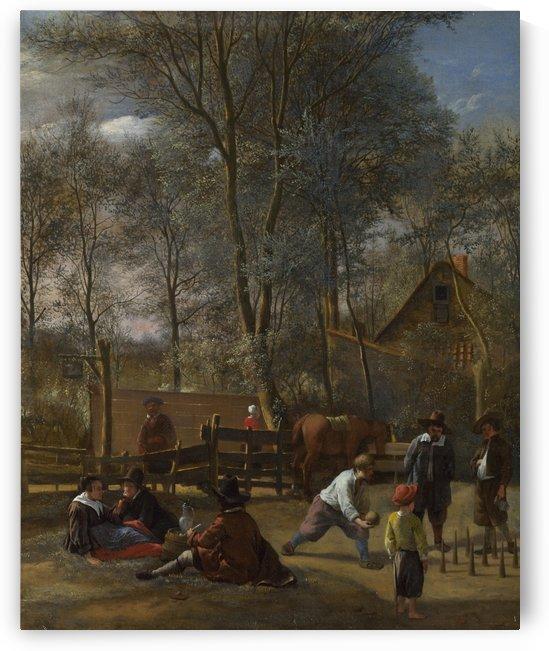Skittles Players Outside an Inn by Jan Steen