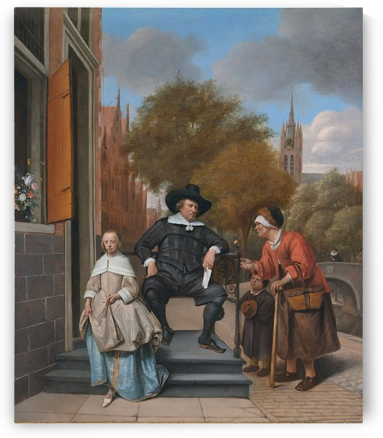 Adolf en Catharina Croeser aan de Oude Delft by Jan Steen