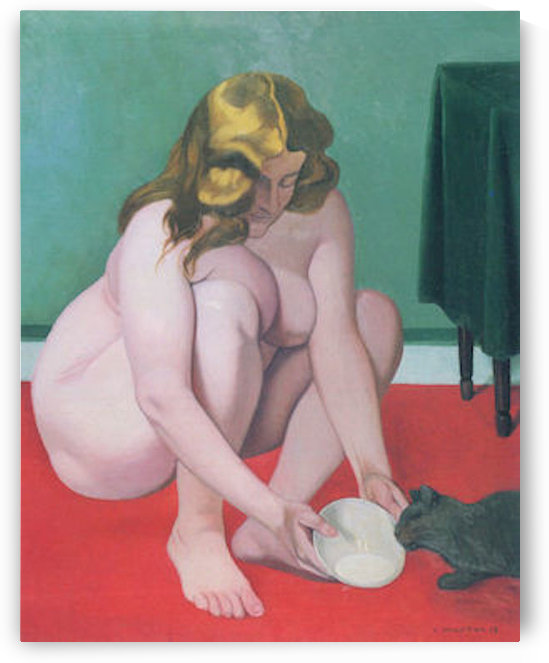 Woman with cat by Felix Vallotton by Felix Vallotton