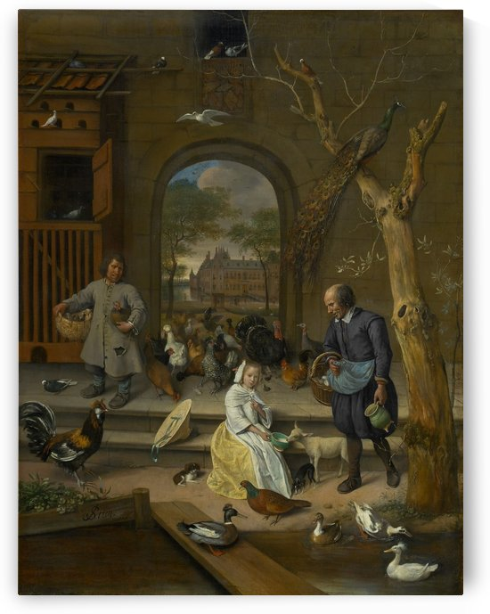Portrait of Jacoba Maria van Wassenaer by Jan Steen
