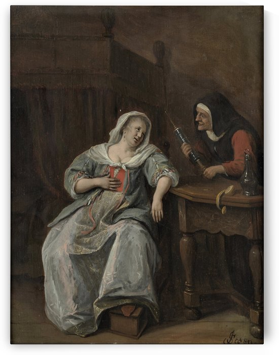 The Sick Woman by Jan Steen