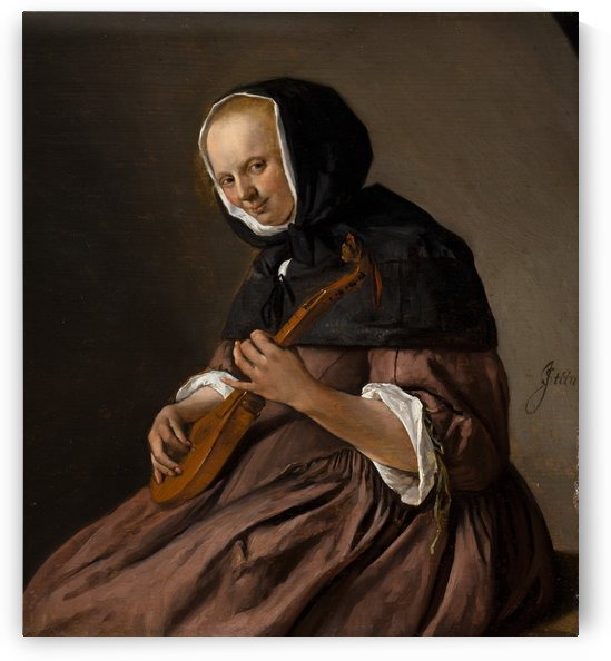 Woman Playing the Sistrum by Jan Steen