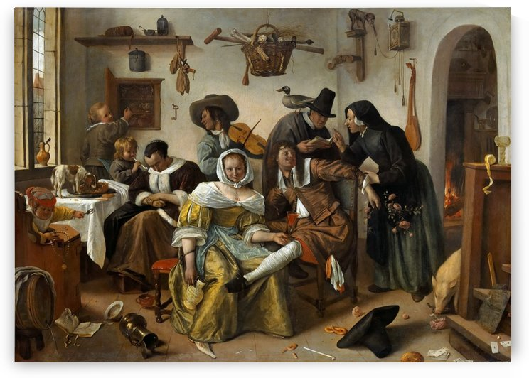 The world turned upside by Jan Steen