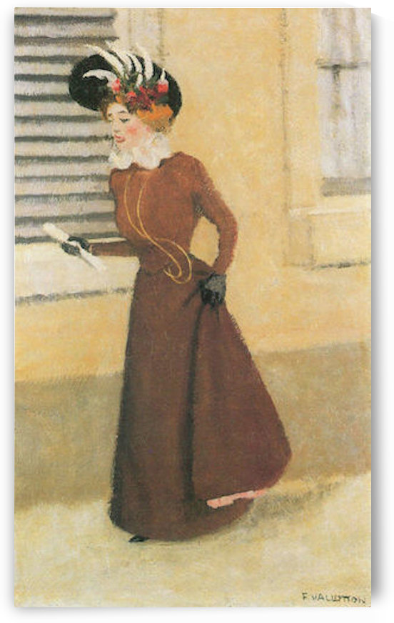 Woman with hat by Felix Vallotton by Felix Vallotton