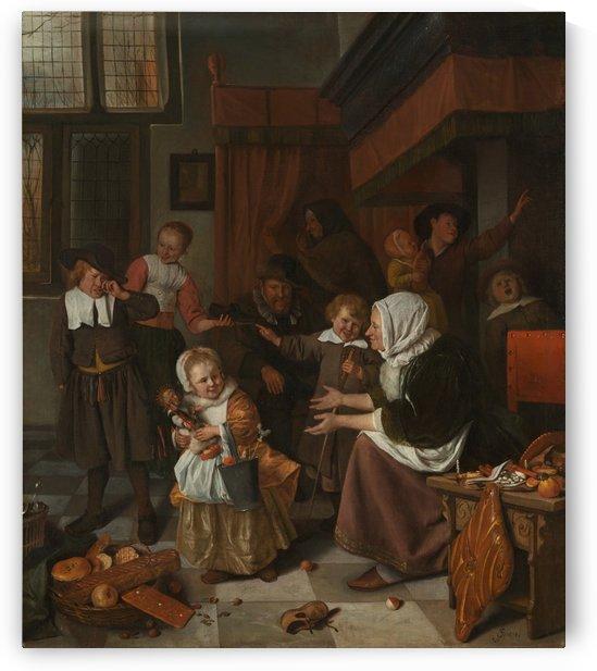 Het Sint Nicolaasfeest by Jan Steen