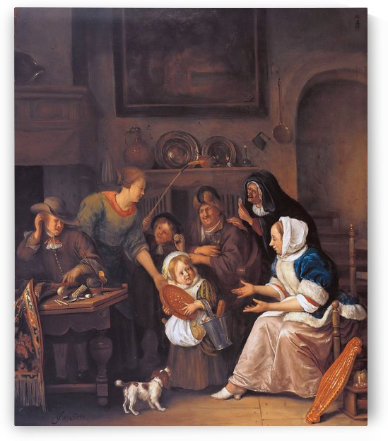 The feast of St Nicholas by Jan Steen